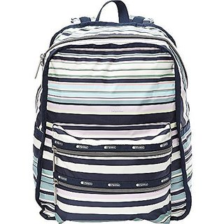 LeSportsac Womens Functional Backpack Beach Stripe Backpack