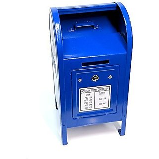 Blue Metal Mailbox Bank