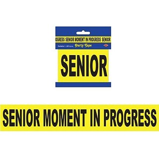 Senior Moment In Progress Party Tape (1 per package)