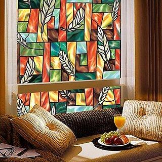 Coavas Electrostatic Window Film Fashion Multicolour Glass Film(17.7-by-78.7 Inch)
