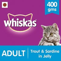 Whiskas Wet Meal (Adult - Cat Food) Trout  Sardine, 400 Gm Can