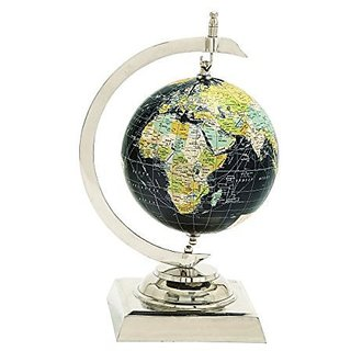 Deco 79 40620 Aluminum PVC World Globe, 9