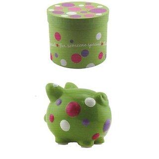 Ceramic Piggy Bank Someone Special Polka Dots
