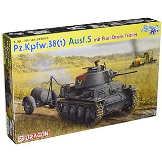 Dragon Models 1 35 Pz.Kpfw.38(t) Ausf.S mit Fuel Drum Trailer - Smart Kit