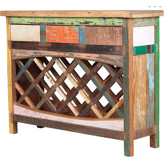 Shop Sting Hara Indian Reclaimed Wood Bar Cabinet