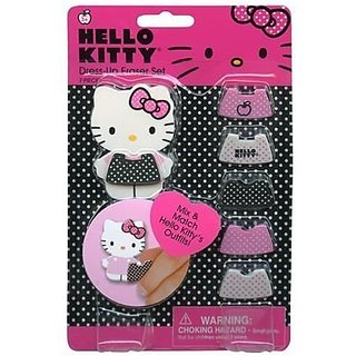 Hello Kitty Dress Up Eraser on Gift Card Set Special Edition US Market #44150