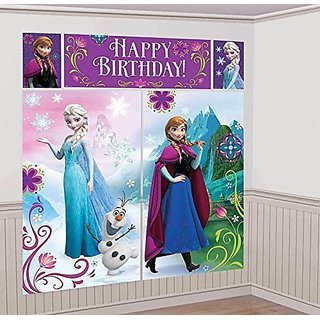 Disneys Frozen Scene Setters Wall Banner Decorating Kit Birthday Party Supplies by Disney