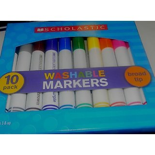 scholastic washable markers 10 PACK BROAD TIP