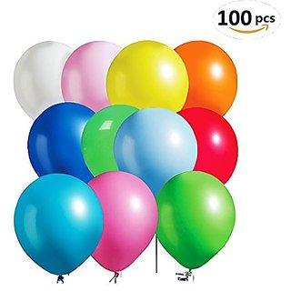 Bluefun 100Pcs Assorted Color Bright Tone Latex Balloons,11