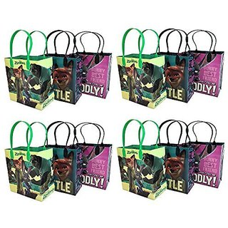 Disney Zootopia Premium Quality Party Favor Reusable Goodie Gift Bags 12 Pieces