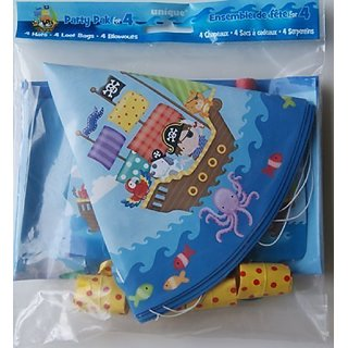Unique Beach Pirate Childrens Party Pak for Four (4)