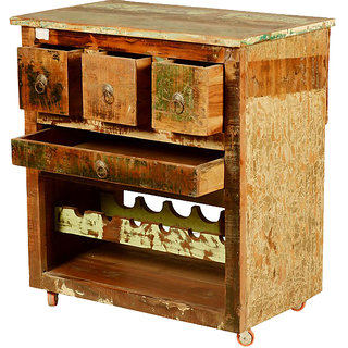 Shop Sting Bharat Indian Reclaimed Wood Bar Cabinet