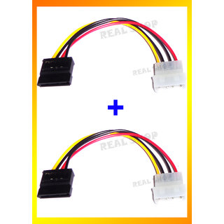 2 PIECES - SATA POWER Cable/ Molex Connector For Computer Hard Disk/DVD Writer