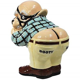 8.25 Inch Booty Call Collectible Coot Painted Ceramic Piggy Bank