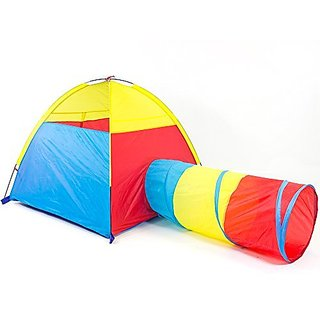 Dome and Tunnel Play Tent Set for Children - Kids Pop Up Play Tent with Tunnel for Indoor & Outdoor Use