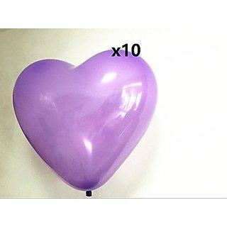 Get Orange 36 Inch Giant purple violet Heart purple loving heart Latex Balloon (Premium Helium Quality) Pkg 10