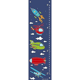 Oopsy Daisy Fine Art for Kids Sky Rides Growth Chart by Finny and Zook, 12 x 42