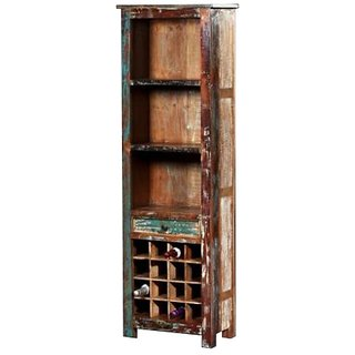 Shop Sting Rustic Indian Reclaimed Wood Bar Cabinet