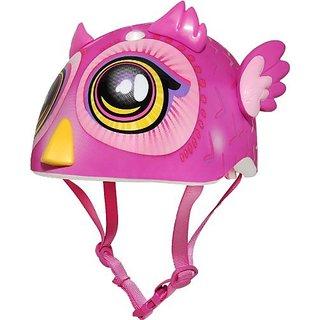 Raskullz Miniz Big Eyes Owl Helmet, Pink