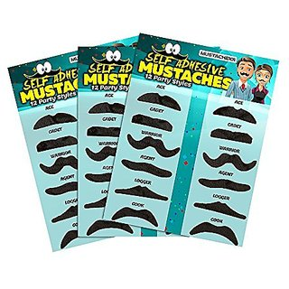 36 Pack Fake Mustache Mustaches Novelty & Toy 36pk by Allures & Illusions