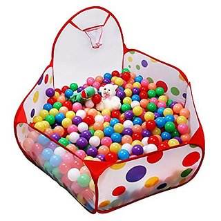 5-ft Kids Ball Pit Tent Extra Large Ball Pits with Basketball Hoop and Zippered Storage Bag, Balls Not Included