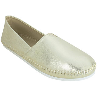 Estatos Broad Toe Golden Coloured Flat Loafer