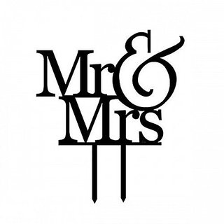 Cake Topper Of Bridal Or Party Mr And Mrs