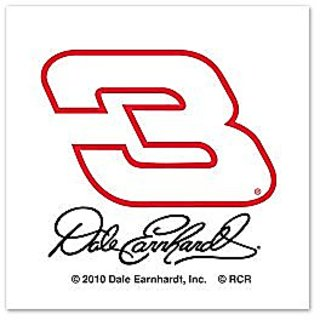Dale Earnhardt Sr. Official NASCAR 1 inch x 1 inch Temporary Tattoos by Wincraft 781925
