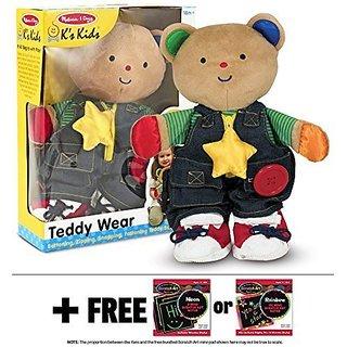 Ks Kids Teddy Wear Plush + FREE Melissa & Doug Scratch Art Mini-Pad Bundle [91695]