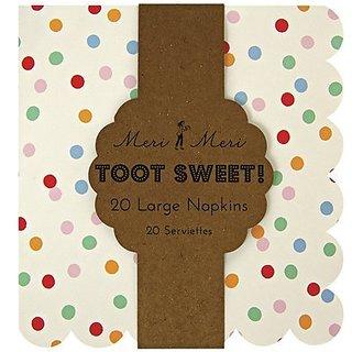 Meri Meri Party Napkins, Toot Sweet Spotty - Large