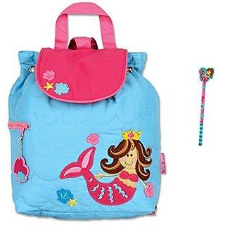 Stephen Joseph Quilted Mermaid Backpack and Pencil - Toddler - Preschool Backpacks