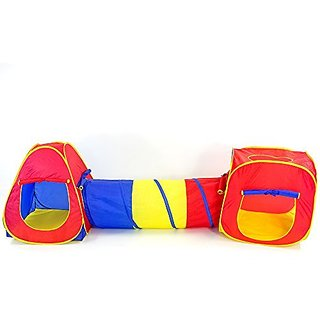 Pop Up 3-Piece Play Tent Set for Children - Kids Play Tents with Tunnel for Indoor & Outdoor Use