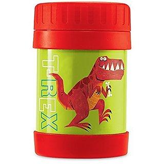 Crocodile Creek Kids Eco Dinosaur T-Rex Insulated Stainless Steel Food Jar, Green, 11.5 oz