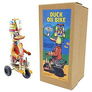 Vintage Style Duck On A Bike - Off the Wall Toys