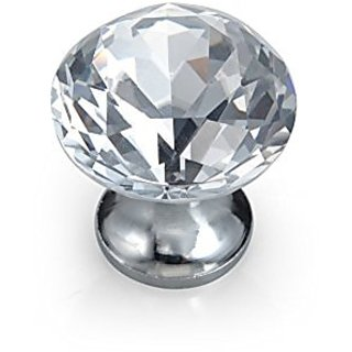12pcs Diamond Shape Crystal Glass 30mm Drawer Knob Pull Handle Usd for Caebinet, Drawer