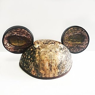 Disney Jurassic Jungle Mickey Ears Dinosaur Party Hat Lenticular Eyes Youth