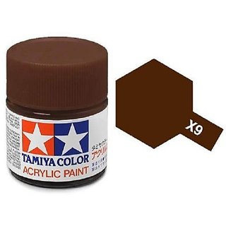 Tamiya Models X-9 Mini Acrylic Paint, Brown