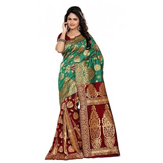 Makeway Art Silk Multycolored Partyware  Popular New Ethnic Fashion Sari