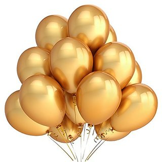 PartyWoo 100 Pack 12 Inches Gold Color Latex Party Balloons-Party Decoration and Accessories