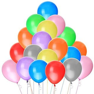 NUOLUX 100pcs Latex Balloons 10 Inch Bright Color (Random Color)