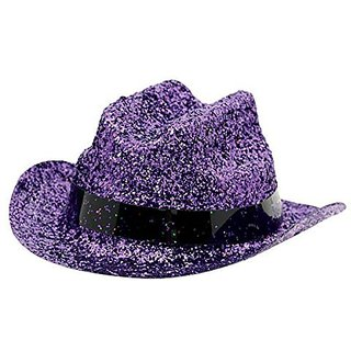 Amscan Mini Cowboy Hat Costume Party Headwear, Purple, 4.8 x 4