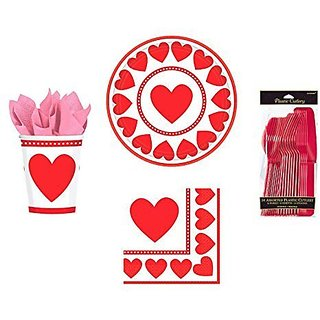 Valentine Sweet Love Party Set for 8 Guests