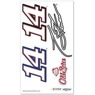 Tony Stewart Official NASCAR 4 inch x 7 inch Temporary Tattoos by Wincraft