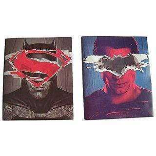 DC Comics Batman v Superman Set of 2 Poly Folders ~ Dawn of Justice (Batman Masked by Superman and Vice Versa; Two Pocke