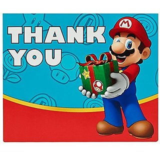 Super Mario Party Supplies - Thank-You Notes (8)