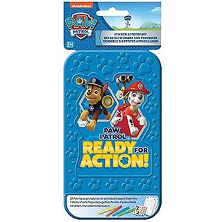 Amscan Fun Filled Paw Patrol Sticker Activity Kit with Plastic Carrying Case (28 Piece), 4