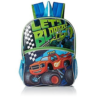Nickelodeon Boys Blaze Lets Light up Backpack, Blue
