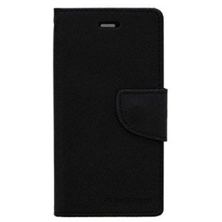 Vinnx Premium Fancy Diary Wallet Book Cover Case for Apple Iphone 7  - Black