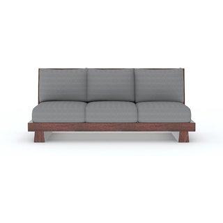 Tezerac -Agustine Three Seater Sofa - Grey