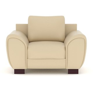 Tezerac -Bamble Single Seater Sofa - Cream